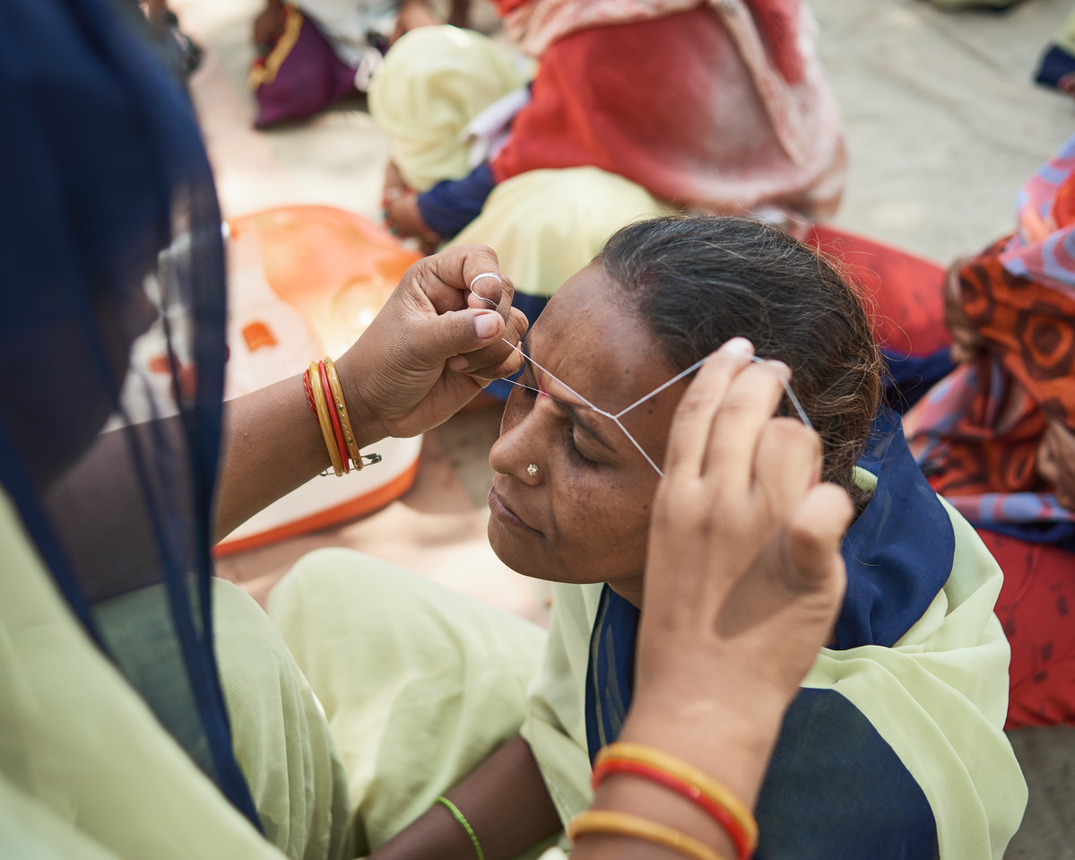 Women attend a beauty training workshop run by Family Planning Association of India, in Gwalior District Jail, Madhya Pradesh, India