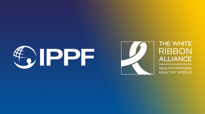 IPPF logo next to White Ribbon Alliance logo
