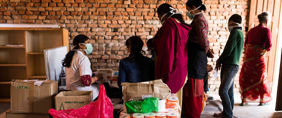 Women in IPPF medical camp after Nepal Earthquake in 2015