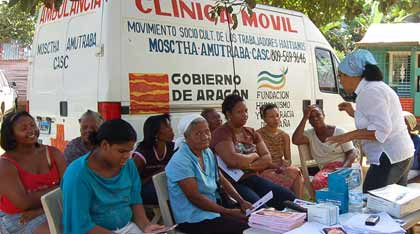 Mobile Member Association clinic in the Dominican Republic