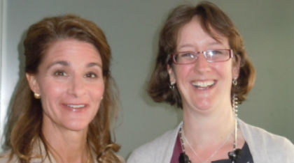 IPPF's Julia Bunting with Melinda Gates