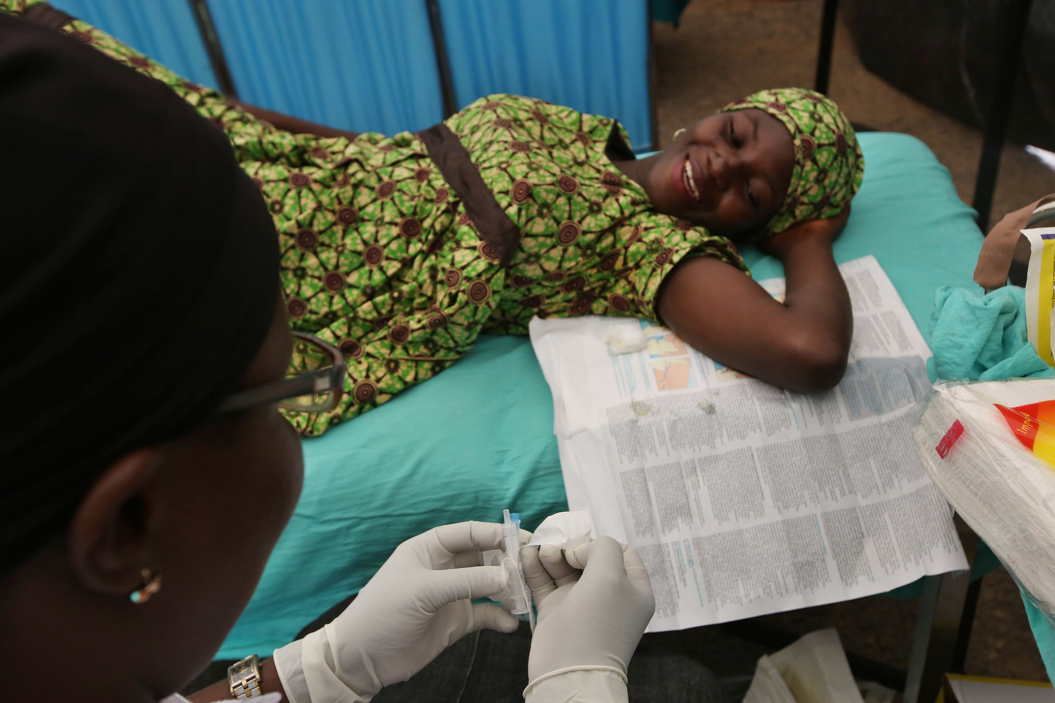 A client getting contraceptive implant in Nigeria