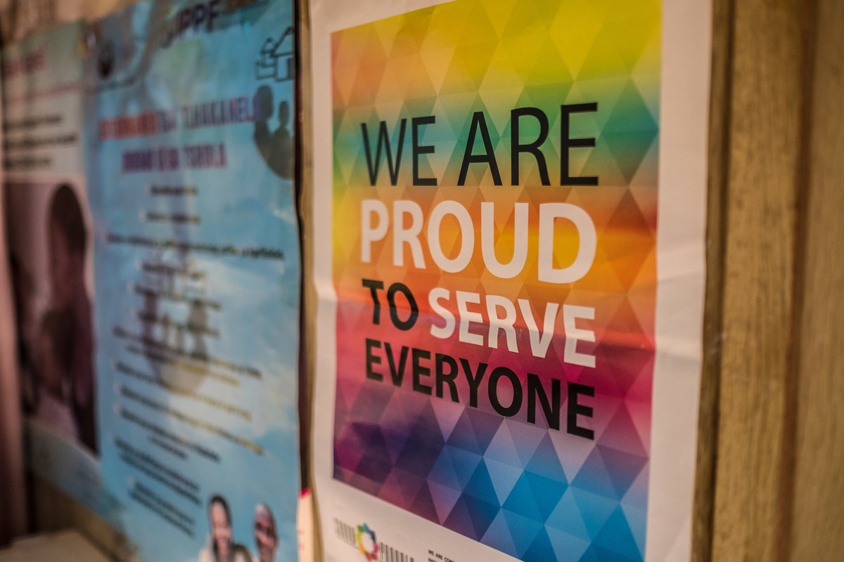 LGBTI poster in the clinic