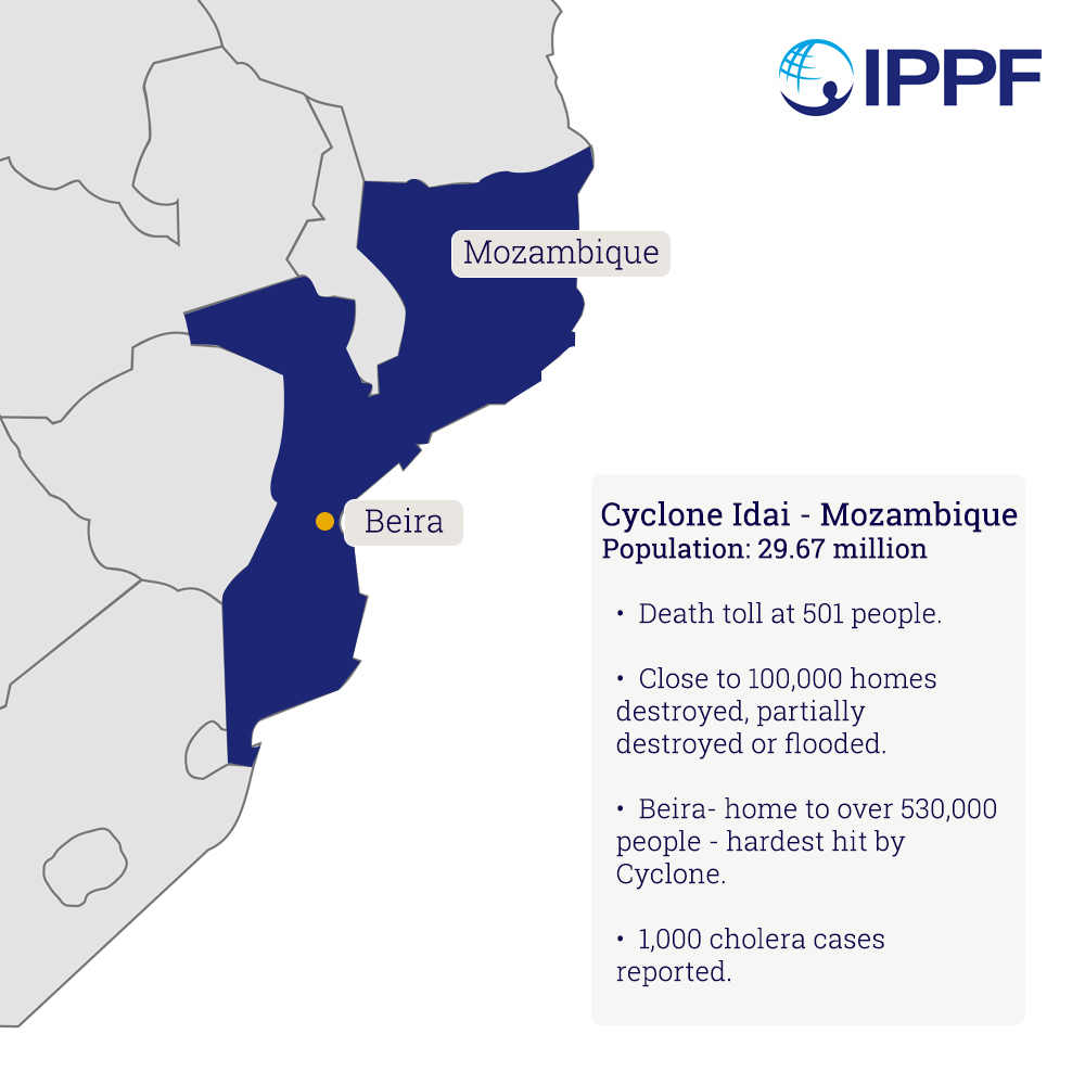 Cyclone idai impact in Mozambique