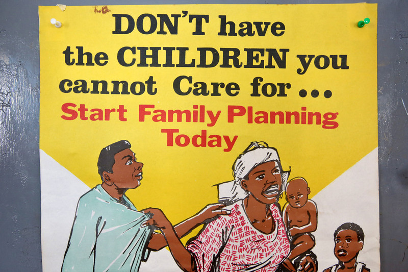 Health sign on display at IPPF's clinic in Nigeria