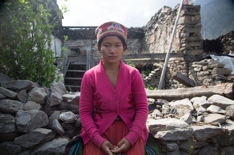 Young Nepalese woman receives help from IPPF, FPAN, after the earthquake
