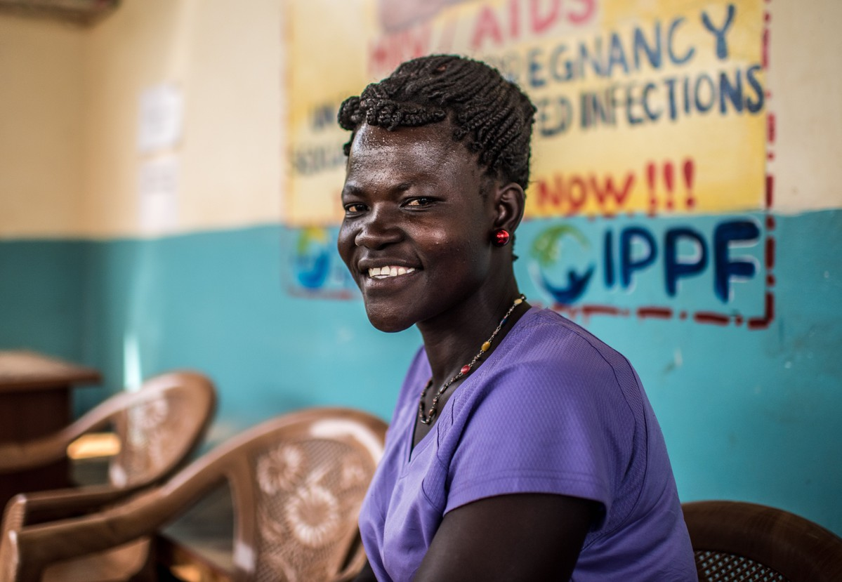 IPPF client in Uganda waits to receive reproductive health services