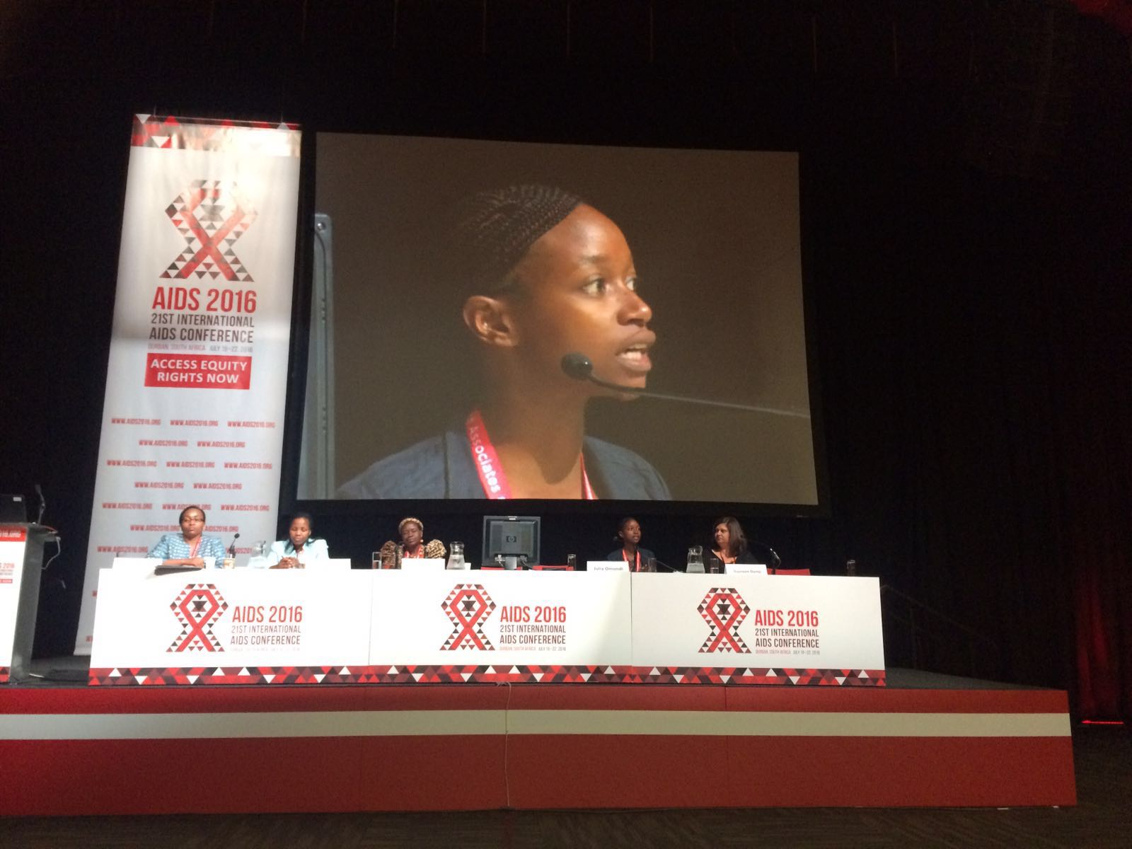 Panelists at the conference during sessions on GBV and HIV