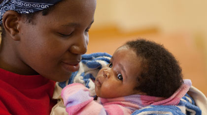 A mother and baby in Swaziland