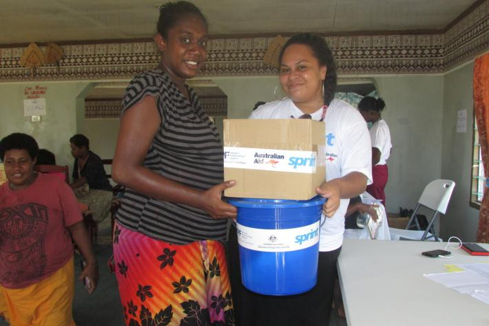 We are providing dignity and hygiene kits