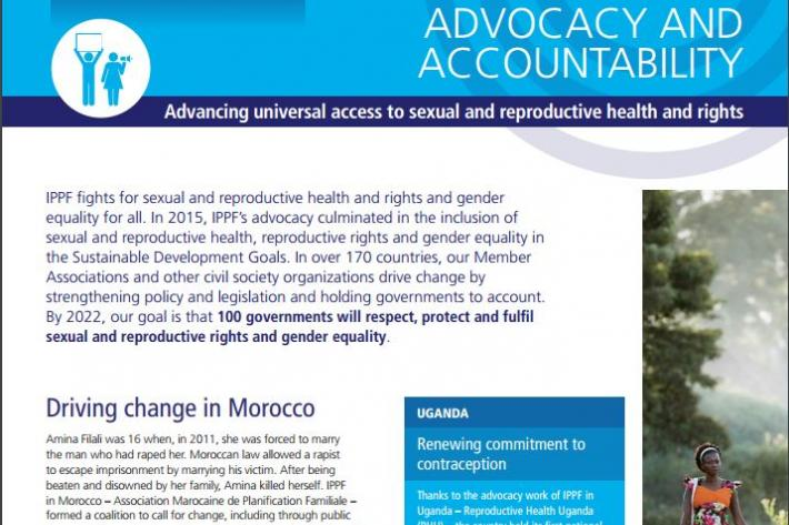 IPPF Advocacy Capability Statement - front page