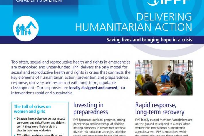 Humanitarian capability statement - front page