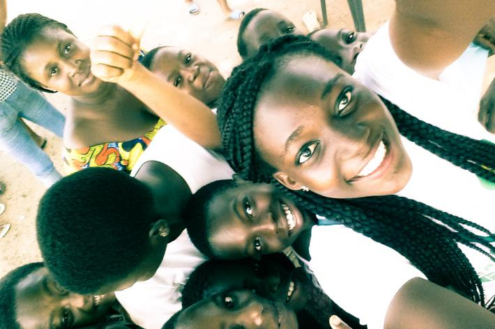 IPPF youth volunteer from Ghana with friends
