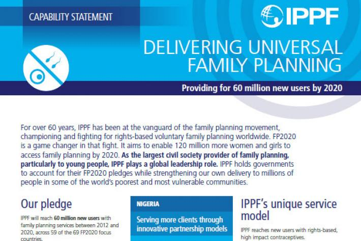 capability statement family planning