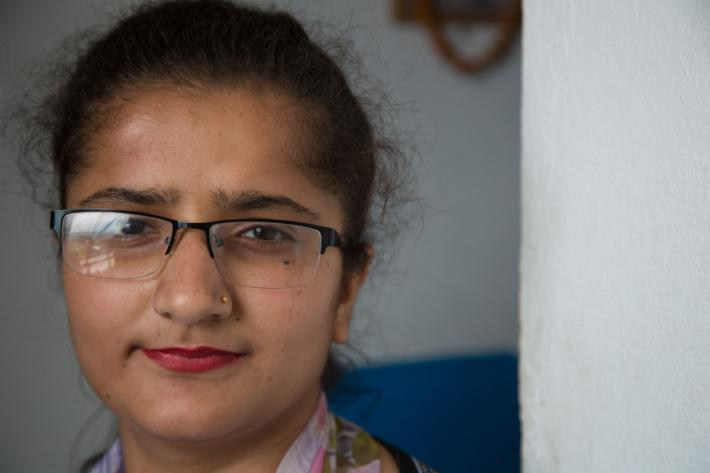 Peer educator and youth award winner Mala Neupane. Tansen, Palpa.