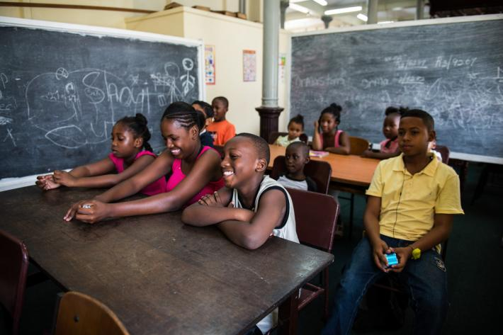 Children in a classroom in Guyana