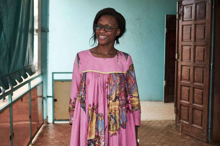 Eliane, Masters student at the Mimboman clinic in Cameroon