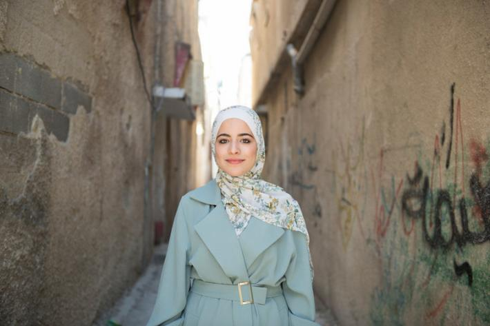 Young peer educator in Palestine.