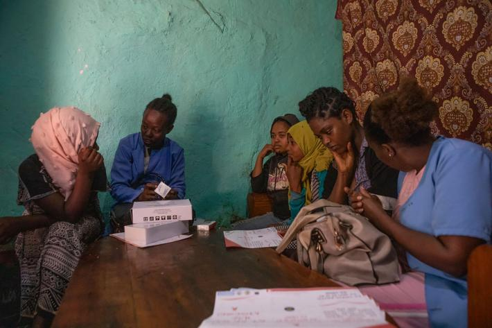 sex workers in Ethiopia are visited by outreach workers