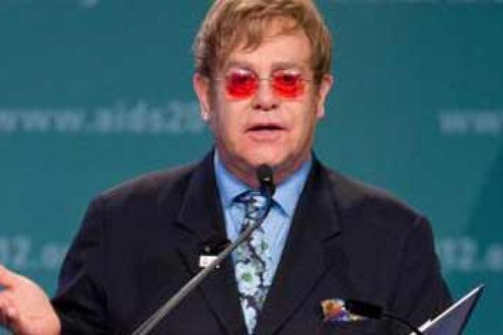 Sir Elton John speaking at Int'l AIDS Conference 2012