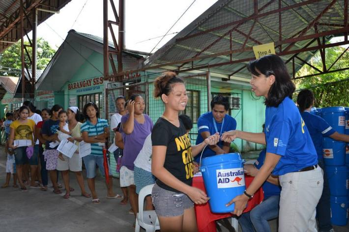 distribution of dignity kits