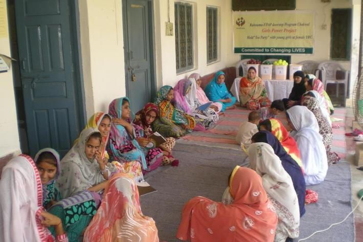 Tea parties in Pakistan have been an occasion to learn about Sexual and Reproductive Health and rights
