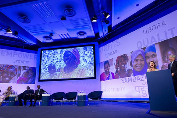 London Summit on Family Planning stage