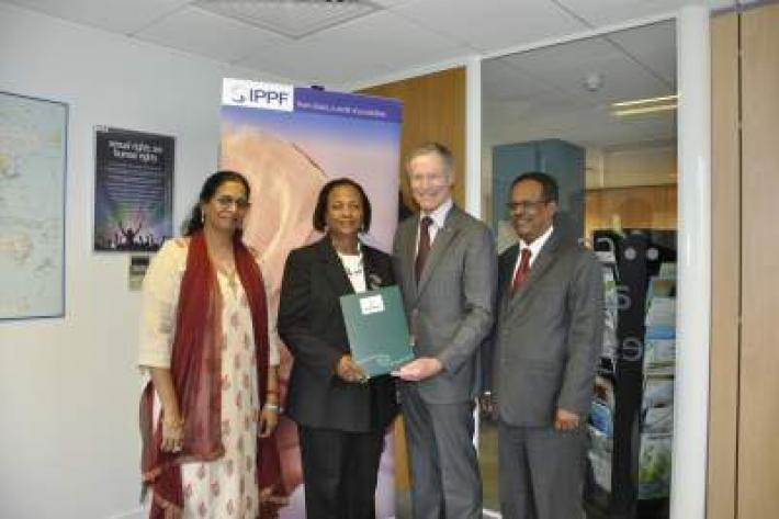 Sir Lockwood Smith and IPPF delegation
