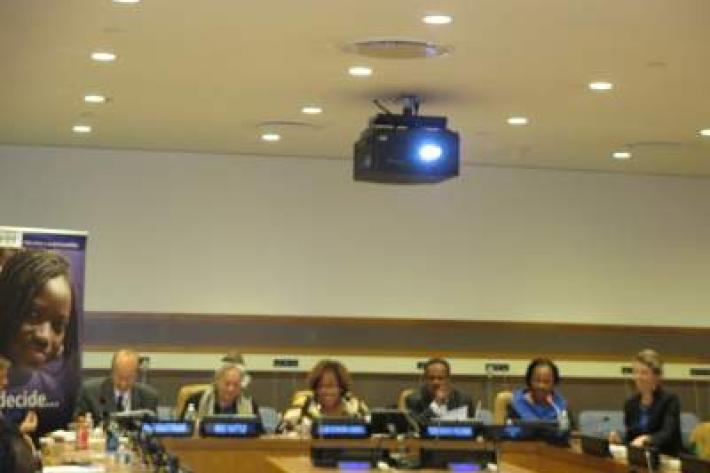 Participants at the high-level panel event organised by IPPF and Government of Liberia