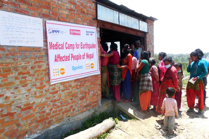 Medical camp for Earthquake-affected population in Nepal