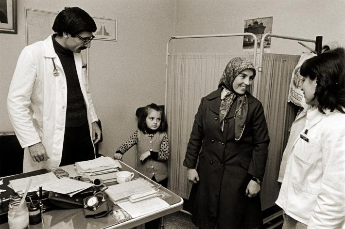 A mother and child at the Cubuk family planning clinic. Turkey, 1978