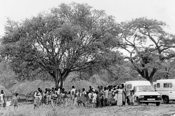 Shamva farm mobile clinic. Zimbabwe, 1986
