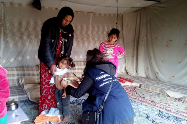 Children are also receiving medical care