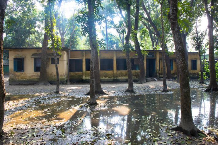 Dkukuriabera Health and Family Welfare Centre experienced heavy flooding during the rainy season causing water damage to the building.