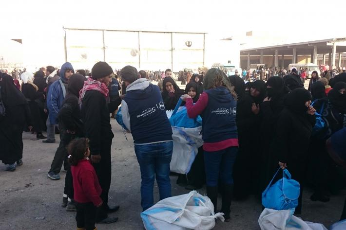 Distributing essentials to people, including contraceptive supplies and essential medicines including vitamins