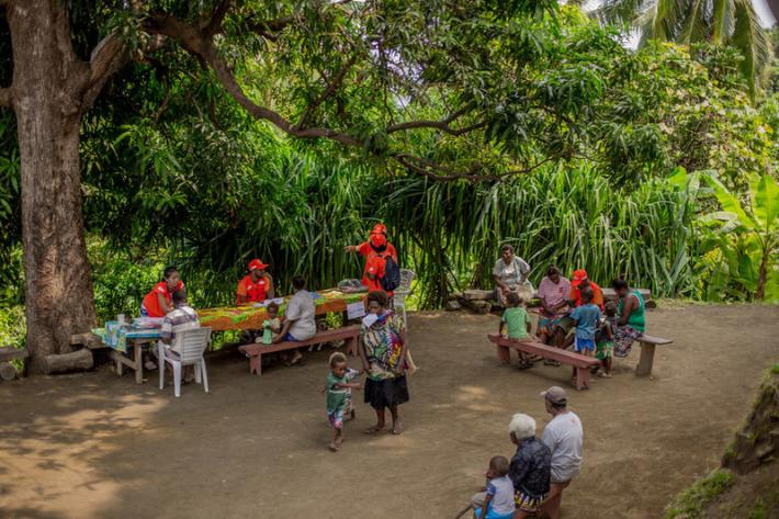 The mobile clinic in Lovutialau, West Ambae.