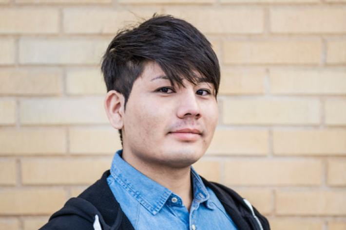 Mahdi Rezaie is 17 years old and comes from Afghanistan, his family fled to Afghanistan from Iran when he was six years old. He now lives in Sweden and attends the Lundellska school in Uppsala.