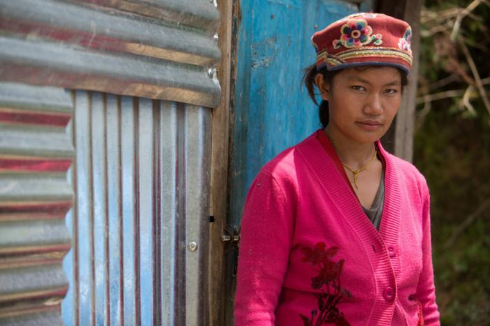 "Kopila Tamang is a 24-year-old farmer and mother to two young boys. Her husband works as a lorry driver and is often away. ""When the earthquake struck, I was working in the fields,"" she says. ""If I had been at home, I would have died."""
