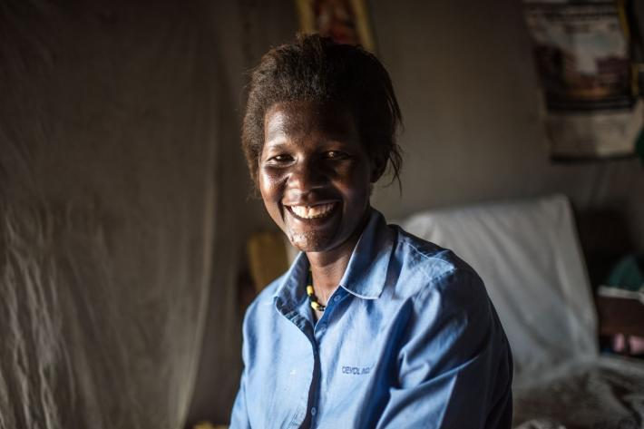 "Lillian Lamunu from Uganda has Sickle Cell Disease. She came to RHU's Gulu clinic to get tubal ligation. She explained, ""I want tubal ligation. No more children, I am struggling to care for the six children I already have."""