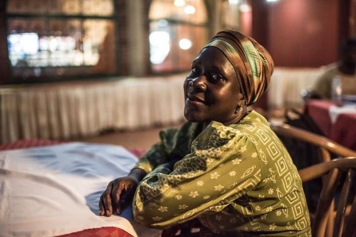 "35 year old Joan was a sex worker for five years. ""Now with the help of Ali at Lady Mermaid's I have a fridge and I sell fruits and juice. Sex workers go through a lot of difficulties. People don't like you. The police are not good. They chase us and others force us to have sex with them. Ali gave me counselling and helped me to get off of the streets."""