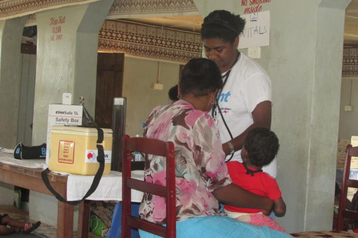 In IPPF camps, we're guaranteeing medical checks to women and children
