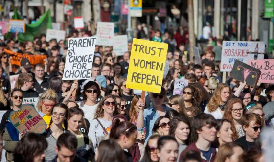 Repeal the 8th march in Ireland