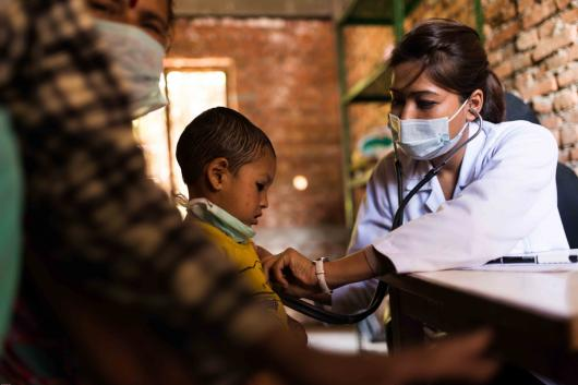 Nepal earthquake doctor with baby