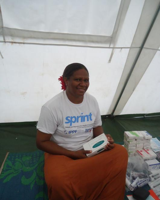 Julie, former midwife, now nurse and Project manager for IPPF-SPRINT in Vanuatu