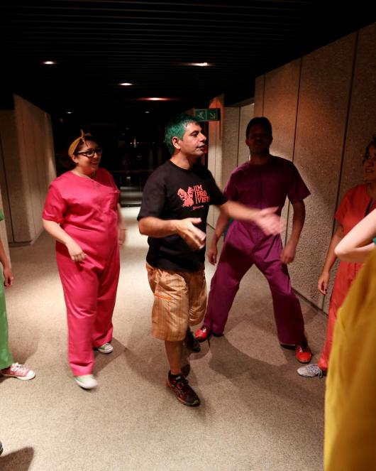 Actors improvise sketches to talk about sexuality education