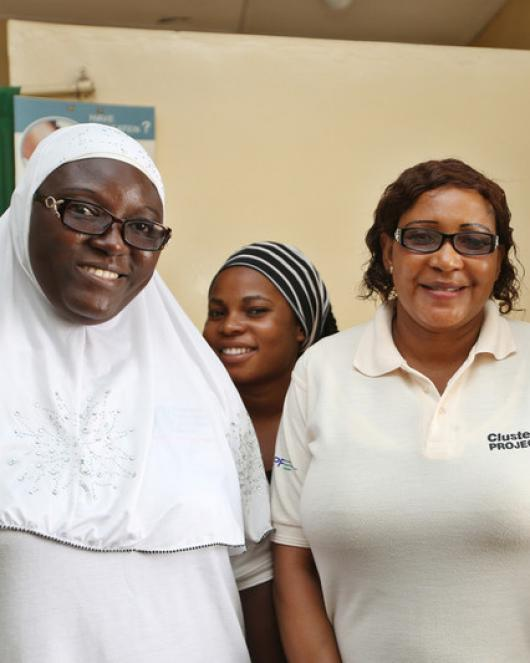 Clinicians from IPPF's clinic in Nigeria, PPFN