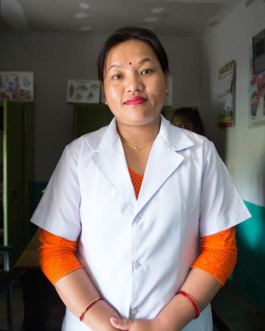 Kamala a nurse on the frontline in Nepal