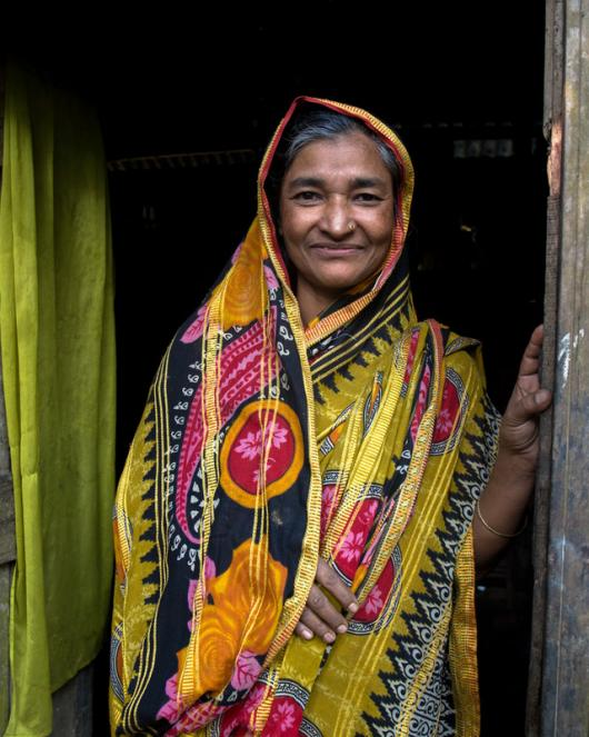 Auliya Khatun, 40, of Village Chandangatti, Union Daulatpur, at her home