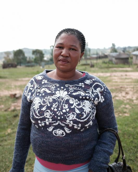 Beneficiary and community activist, Matiisetso Sefako,
