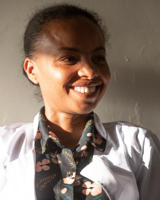 portrait of Emebet Bekele is a former sex worker turned counsellor